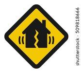 earthquake metaphor icon  ... | Shutterstock . vector #509818666
