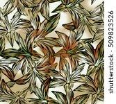 seamless background. lilies....   Shutterstock . vector #509823526