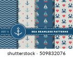 sea and nautical backgrounds in ... | Shutterstock .eps vector #509832076