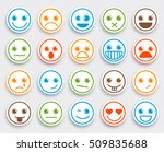smiley face vector emoticon set ... | Shutterstock .eps vector #509835688
