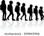 silhouette of a child with a...   Shutterstock .eps vector #509845906