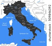 italy map | Shutterstock . vector #509846392