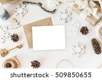 stylish branding mockup to... | Shutterstock . vector #509850655