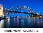 sydney harbour bridge at night | Shutterstock . vector #509851312