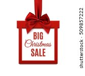 big christmas sale  square... | Shutterstock .eps vector #509857222