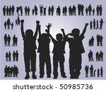 illustration of happy children | Shutterstock .eps vector #50985736