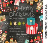 merry christmas and new year... | Shutterstock .eps vector #509865166
