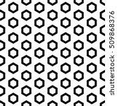 raster monochrome seamless... | Shutterstock . vector #509868376