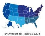 usa regional map | Shutterstock .eps vector #509881375