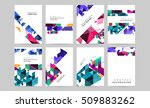 geometric background template... | Shutterstock .eps vector #509883262