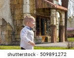happy child is walking and... | Shutterstock . vector #509891272