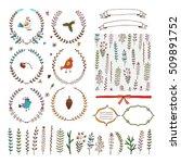set of decorative elements | Shutterstock .eps vector #509891752