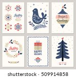merry christmas greeting cards... | Shutterstock .eps vector #509914858