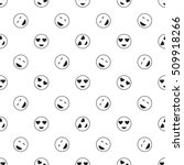 emoticon seamless pattern in... | Shutterstock .eps vector #509918266