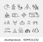 camping vector icons | Shutterstock .eps vector #509921152