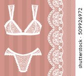 hand drawn lingerie. panty and... | Shutterstock .eps vector #509926972