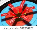 3d illustration of 6 arrows... | Shutterstock . vector #509930926