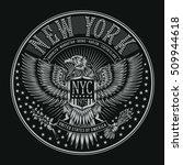 eagles new york typography  t... | Shutterstock .eps vector #509944618