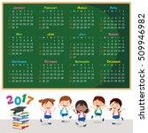 2017 calendar. calendar design... | Shutterstock .eps vector #509946982