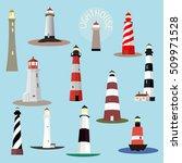 set of cartoon lighthouses....   Shutterstock .eps vector #509971528