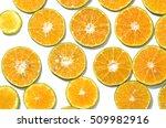 thai honey oranges slice flat... | Shutterstock . vector #509982916