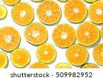 thai honey oranges slice flat... | Shutterstock . vector #509982952
