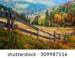 colorful autumn landscape scene ... | Shutterstock . vector #509987116