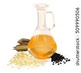 sesame seeds. sesame pods.... | Shutterstock .eps vector #509990506