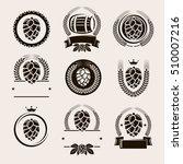 hop labels and elements set.... | Shutterstock .eps vector #510007216