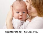 newborn in mother's hands ... | Shutterstock . vector #51001696