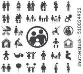 family icon on the white... | Shutterstock .eps vector #510024922