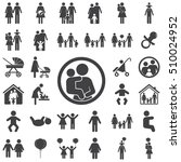mother and child vector symbol... | Shutterstock .eps vector #510024952