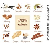 backing spices big set with... | Shutterstock .eps vector #510028345