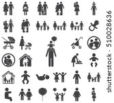 family icon on the white... | Shutterstock .eps vector #510028636