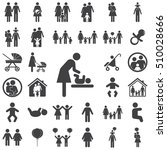 mother and child vector symbol... | Shutterstock .eps vector #510028666