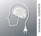 human head and big idea design | Shutterstock .eps vector #510034576