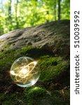 magic crystal ball atom on... | Shutterstock . vector #510039592