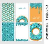 set of bright food cards. set... | Shutterstock .eps vector #510039715