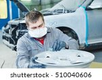 repair mechanic worker with... | Shutterstock . vector #510040606