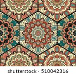 flower pattern. seamless blue... | Shutterstock .eps vector #510042316