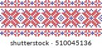 embroidered pattern on... | Shutterstock .eps vector #510045136