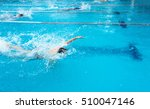 young man swimming freestyle in ... | Shutterstock . vector #510047146