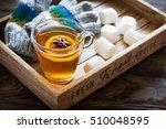 winter time  cup of hot tea...   Shutterstock . vector #510048595