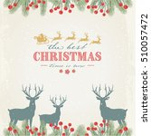 christmas background with twigs ... | Shutterstock .eps vector #510057472
