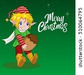 cartoon illustration of an elf... | Shutterstock .eps vector #510064795