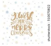 merry christmas lettering over... | Shutterstock .eps vector #510070822