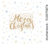 merry christmas lettering over... | Shutterstock .eps vector #510070876