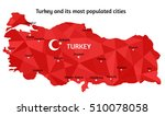 vector turkey map and its... | Shutterstock .eps vector #510078058