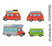 camping trailer truck vehicle... | Shutterstock .eps vector #510093982