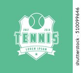 tennis emblem flat icon on... | Shutterstock .eps vector #510099646